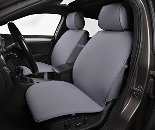 180502 Grey - Fabric 2 Front Car Seat Cover Cushions, for Car, Truck, SUV or Van, Breathable, Non-slip, Compatible to Nissan Juke Murano Pathfinder Rogue Xterra 2018 2017-2007