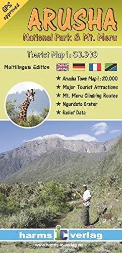 Arusha: National Park & Mount Meru Tourist Map 1:50.000 (Afrikanische Nationalparks)