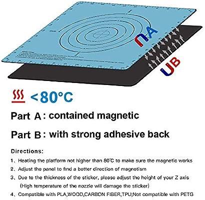 1 new azul azul Cinta adhesiva magn/ética de dos capas para impresora 3D compatible con Creality CR-10S CR-10 Anet E12 Anet A8 SOOWAY Flex 220x220mm