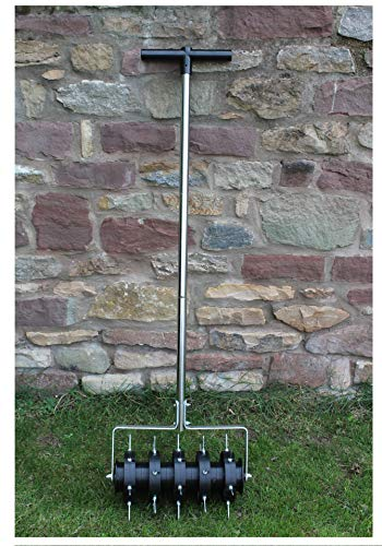 Greenkey Garden and Home Ltd 700 Rolling Lawn Aerator, Green or Black