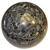 "Larvikite Ball 04 Big Rare Nordic Crystal Sphere Specimen Protective Grounding Energy 3.1"""