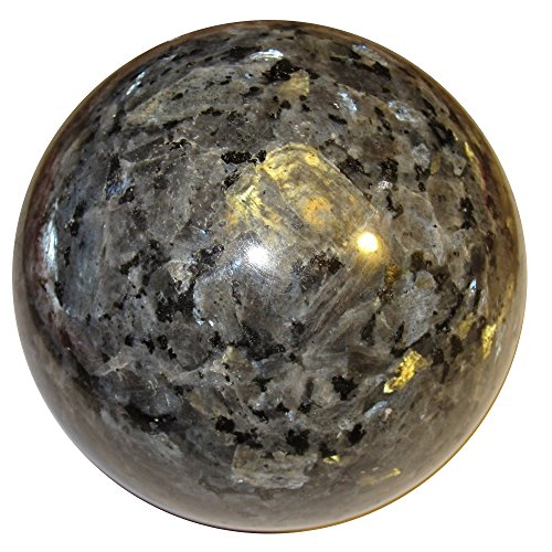 Larvikite Ball 04 Big Rare Nordic Crystal Sphere Specimen Protective Grounding Energy 3.1""