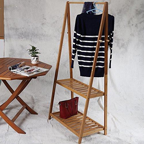 Solid wood double double-coat rack racks European floor racks