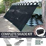 Amazon Com Outsunny Sun Sail Shade Canopy Adjustable
