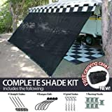 Cheap 8′ x 18′ RV Awning Shade Net (Black) Complete Kit with Carry Bag Canopy Shelter Screen Panel and Awning Maintenance Manual Motor Home Trailer