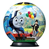 "Ravensburger THOMAS & FRIENDS ""Thomas the Tank: Birthday Surprise"" 3D Globe Puzzle with Stand 72 Piece Premium EASYCLICK TECHNOLOGY Jigsaw Puzzle by THOMAS & FRIEND 3-D Puzzle"