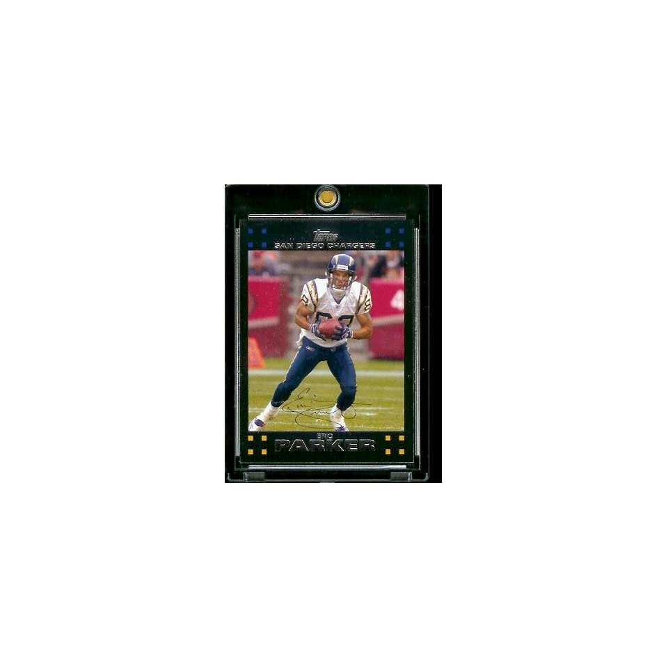 2007 Topps Football # 178 Eric Parker   San Diego Chargers   NFL