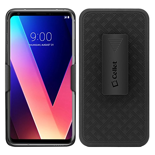 LG V30 Case, Cellet Case Combo Super Protective Case with Holster Kickstand, Belt Swivel Clip, (w/ Rubberized Grip Finish) for LG V30
