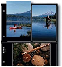 """Print File BLK46-6S, Archival S-Series Album Pages, Holds Six 4x6"""" Prints, Pack of 25 - Black Background"""
