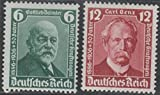 Postage Stamp Germany 1936 Scott 470 -71 Carl Benz Gottlieb Daimler 50th Anniv. Automobile MNH