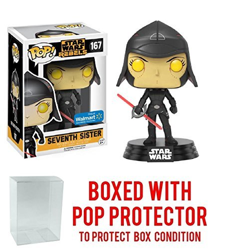 Funko Pop! Star Wars Rebels: Seventh Sister #167 (Walmart Exclusive) Vinyl Figure (Bundled with Pop BOX PROTECTOR -