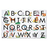 "Melissa & Doug ABC Learn the Alphabet Floor Puzzle (Easy-Clean Surface, Promotes Hand-Eye Coordination, 24 Pieces, 24"" L x 36"" W, Great Gift for Girls and Boys - Best for 3, 4, 5, and 6 Year Olds)"