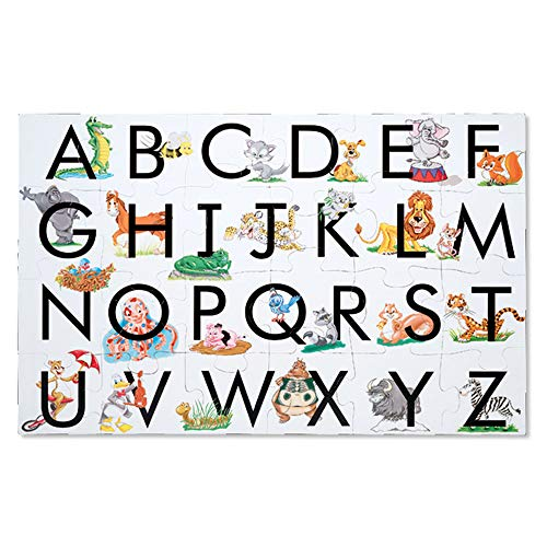 Melissa & Doug ABC Learn the Alphabet Floor Puzzle (Easy-Clean Surface, Promotes Hand-Eye Coordination,24 Pieces, 24 L x 36 W, Great Gift for Girls and Boys - Best for 3, 4, 5, and 6 Year Olds)