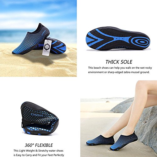 Quick Pool Men Water Skin Dry Exercise for Women Surf Barefoot Water Durable Sixspace Shoes Yoga Sole Beach Blue Shoes RIw6Bq