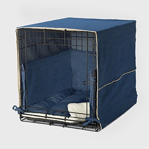 Old Navy Dog - Pet Dreams New Double Door 3 Piece Crate Bedding Set. The Original Crate Cover, Crate PAD and Bumper JUST GOT Better! Large Fits 36