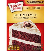 Duncan Hines Signature Cake Mix, Red Velvet, 15.25 Ounce (Pack of 12)