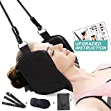Neck Traction Hammock, XaoRy Cervical Traction Device for Neck Pain Relief, Comes with Eye Mask and Storage Bag