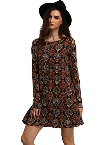 OEUVRE Womens Casual Printed Sleeve
