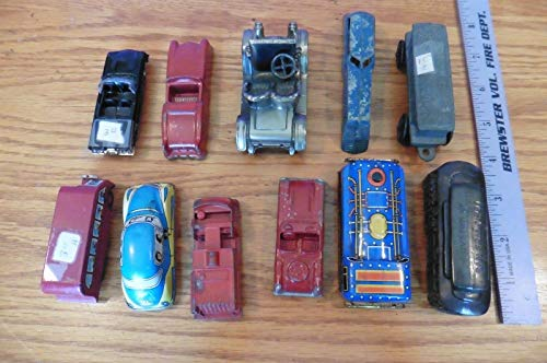 Lot of Vintage Cars Toy Tin train diecast midgetoy firetruck ERTL Pewter Renault