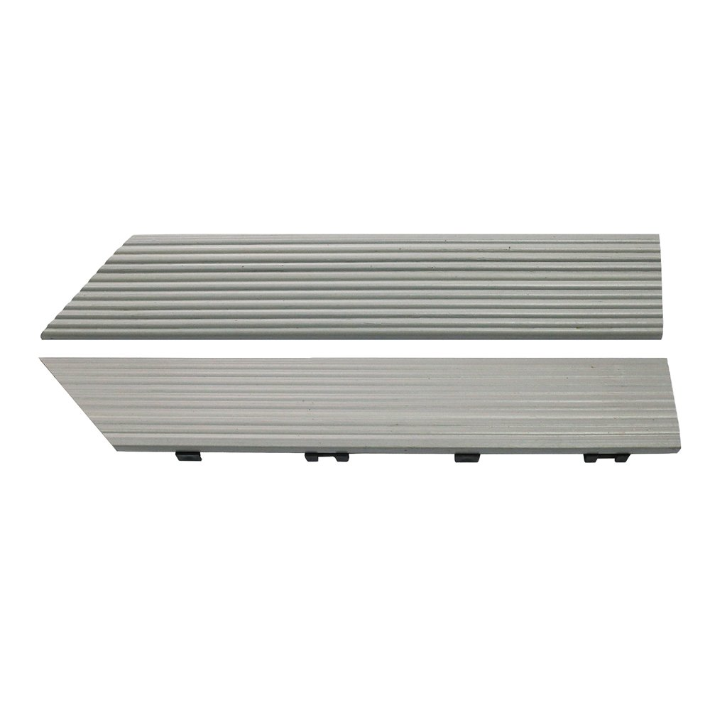 NewTechWood US-QD-of-ZX-SW 1//6 x 1 ft Quick Composite Deck Tile Outside Corner Trim in Icelandic Smoke White 2-Pieces//Box