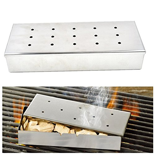 ECYC Barbeque Smoker Box Stainless Steel Meat Smokers Boxes for Smoked Foods by ECYC