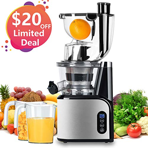 Aobosi Slow Masticating Juicer Extractor Compact Cold Press Juicer Machine with Portable...