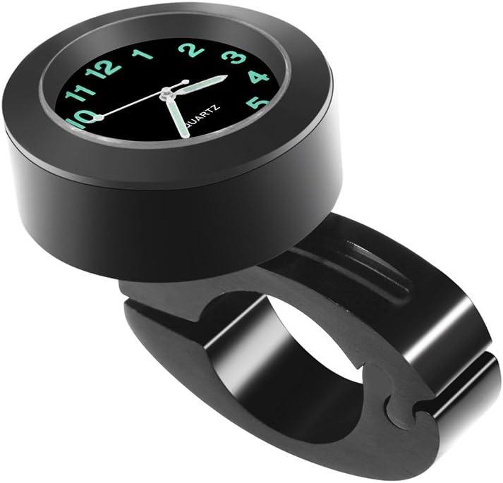 Neborn Universale Impermeabile 7//8Manubrio Moto 22-25mm Montaggio termometro Temperatura Orologio Moto Orologio per Accessori Moto