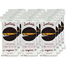Justin's Dark Chocolate Peanut Butter Cups , 1.4 Ounce (Pack of 12)