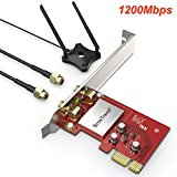 BrosTrend 1200Mbps PCIe WiFi Card Adapter, 5GHz WiFi 867Mbps, 2.4GHz 300Mbps, with 2