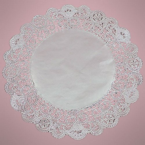 10 Inch Silver Metallic Round Doilies - 50 Pack