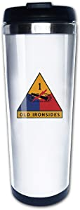 CHTANG7 1st US Armored Division Old Ironsides Travel Coffee Mug Insulated Tumbler Cup