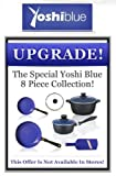 yoshi blue skillet - Yoshi Blue 8 Piece Set Cookware Frying Pan