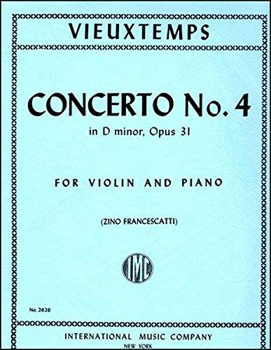 Download Vieuxtemps: Concerto No. 4 in D minor, Op. 31 - Violin (International 2626) ebook