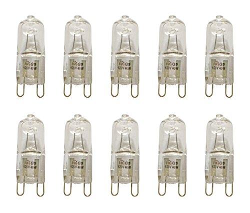 Watt 120 Volt Bi Pin - VSTAR G9 Halogen Bulb,G9 Bi-pin Base,120V 40W Base G9 Halogen Bulbs,Dimmable(10pack)