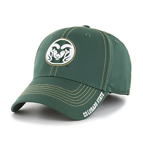 (NCAA Colorado State Rams Adult Start Line Ots Center Stretch Fit Hat, Medium/Large, Dark)