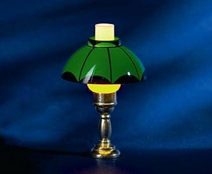 Melody jane casa delle bambole lampada da tavolo verde olio