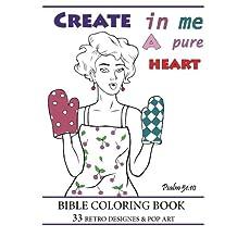 Bible Coloring Book:: 33 Retro Designs & Pop Art (Creative Christian Adult Coloring book)