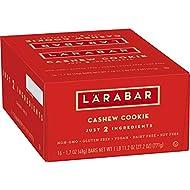 LARABAR, Fruit & Nut Bar, Cashew Cookie, Gluten Free, Vegan, 1.7 oz Bars (16 Count)