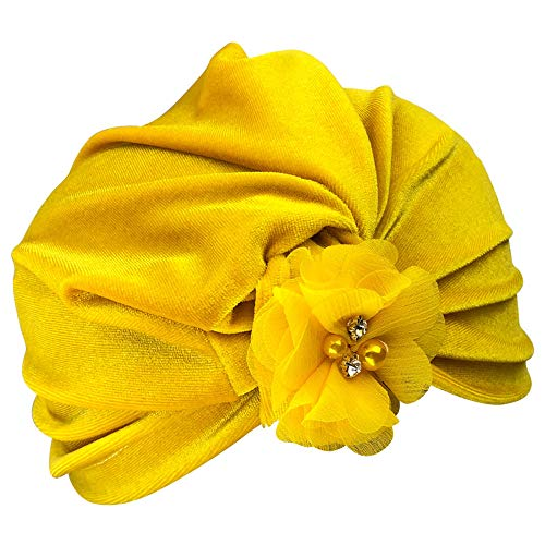 Gbell Newborn Toddler Flower Turban Beanie Hat Kids Winter Autum Spring Headwear Bonnets Hat for Baby Boy Girls