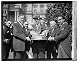 8 x 10 Reprinted Old Photo Hoover Naming Trophy Spain 1929 National Photo Co 42a