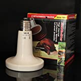110V Ceramic Emitter Heat Lamp Grow Plant Lamp Zoo Turtle Pet Reptile Heater 150W Watts (white))