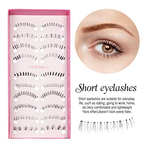 2ba68bb8c65 Teenitor Anime Eyelashes 20 Pair 20 Desgin Japanese Cosplay Eyelash Fake  False Upper Lower Eyelash Lower Lashes False Eyelashes With Eyelashes  Applicator ...