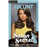 BBLUNT Salon Secret High Shine Creme Hair Colour, Dark Brown 3, 100g with Shine Tonic, 8ml