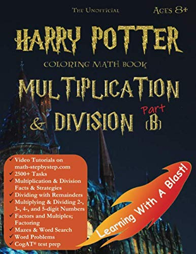 Halloween Word Problems For 2nd Grade (Harry Potter Coloring Math Book Multiplication and Division (B) Ages 8+: Multiplying and Dividing Within 10000 with Regrouping, Word Search, Word ... test prep, and more! (Math Step by)