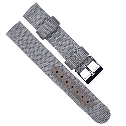 18mm-replacement-waterproof-soft-nylonleather-canvas-fabric-sport-edition-watch-strap-watch-band-gre