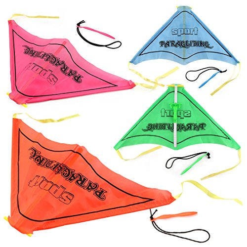Paragliding Flying, Lingxuinfo 4PCS Kids Hand Glider Paragliding Toy Set Launch Outdoor Toy (Assorted Colors) by Lingxuinfo