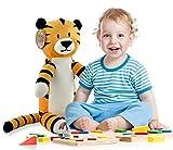 Regit the Plush Tiger Toy, 17-Inch Tall Striped Sitting Tiger Stuffed Animal