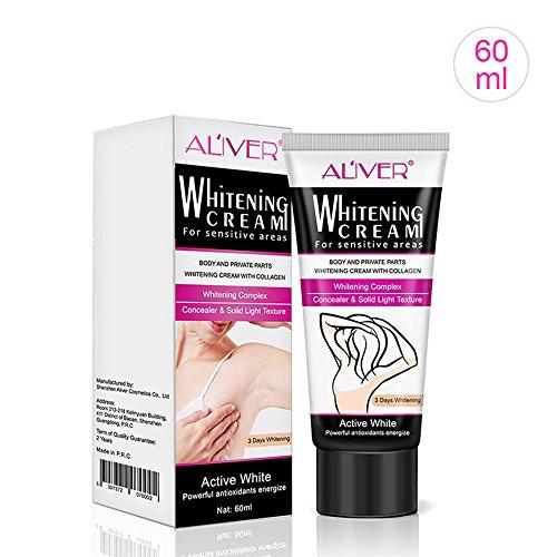 KOBWA Underarm Whitening Cream, Natural Armpit Lightening & Brightening...