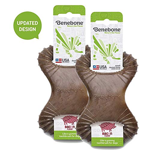 Benebone Real Flavor Dental Dog Chew Toy, Updated Design, Made in USA