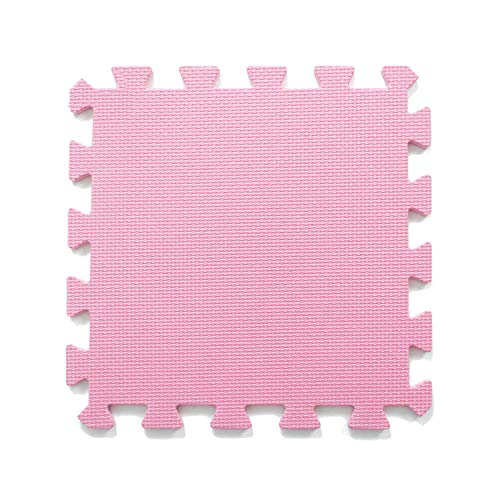 Fall In Love 9pcs/lot Baby Play Mat Plain Color Puzzle Mats EVA Foam Mat Kids Jigsaw Mats 30X30X1cm for Bedroom School Protective Floor Tiles,Pink,30x30x1cm 9pcs